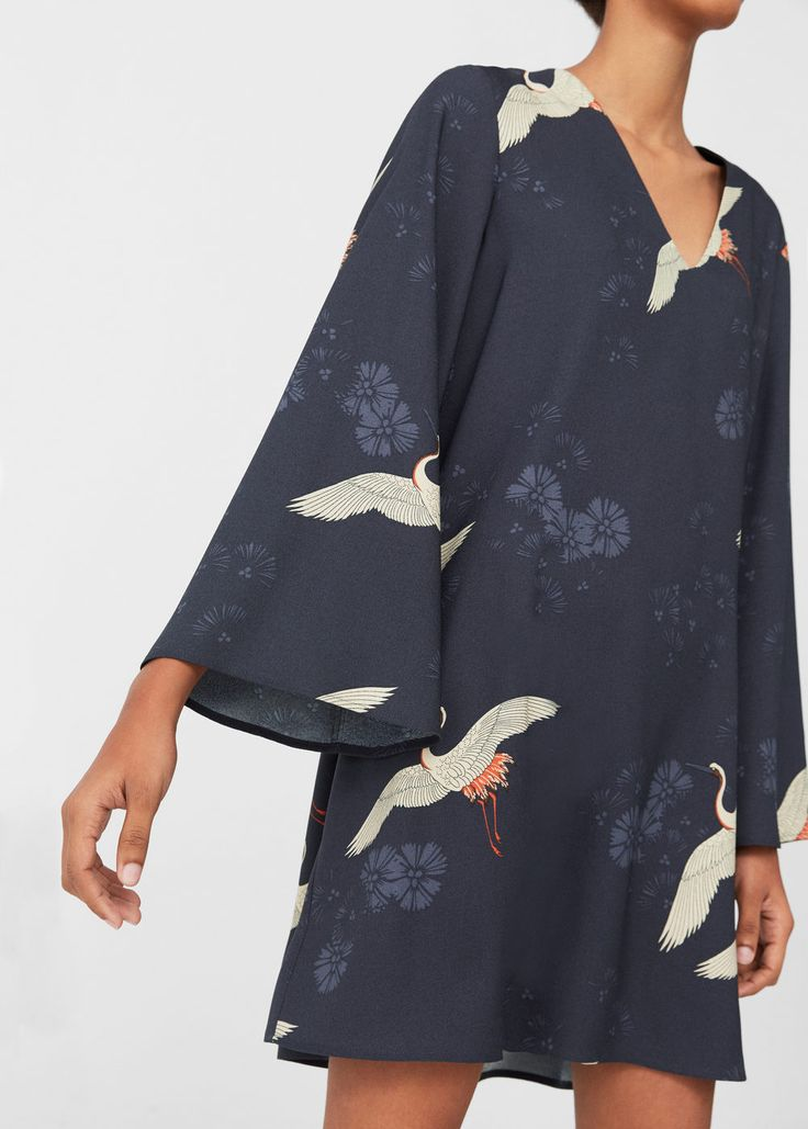 Flowy printed dress | MANGO $79.99