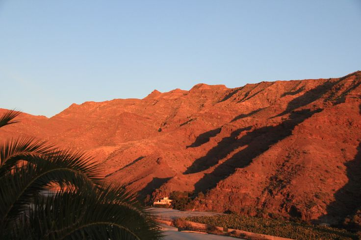 Valley by the Playa de Tasarte in south of the island