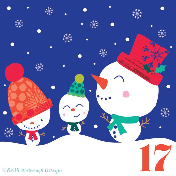 Snowmen for day 17.  #makeitindesign #snowmen #advent #adventcalendar #adventcalendarart #adentcalendar2017 #adventchallenge2017 #illustration #christmascountdown #christmascalendar #christmas #freelance #freelancedesigner #christmas2017 #kathwatmoughdesigns www.instagram.com/kathwatmough