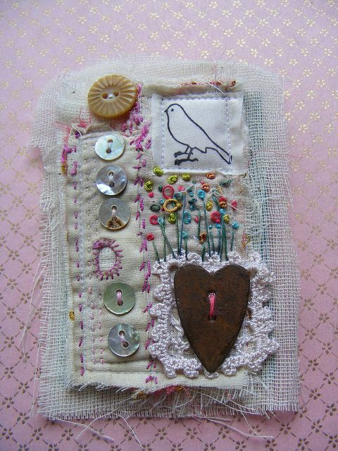 textile brooch by hens teeth