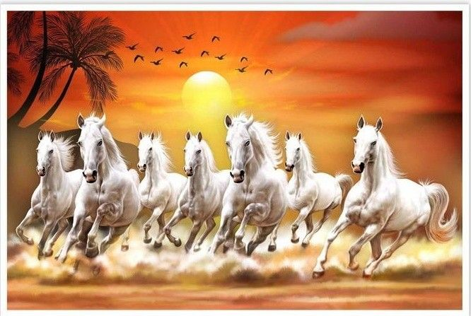 Pin By Rachit Shah Art On Painting Horse Canvas Painting Seven Horses Painting Horse Painting Full hd wallpaper 7 horse