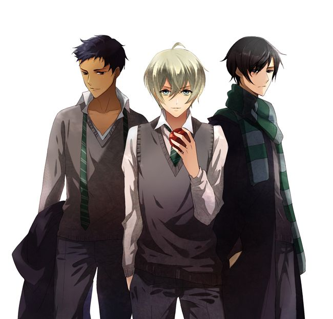 Blaise Zabini, Draco Malfoy and Theo Nott.