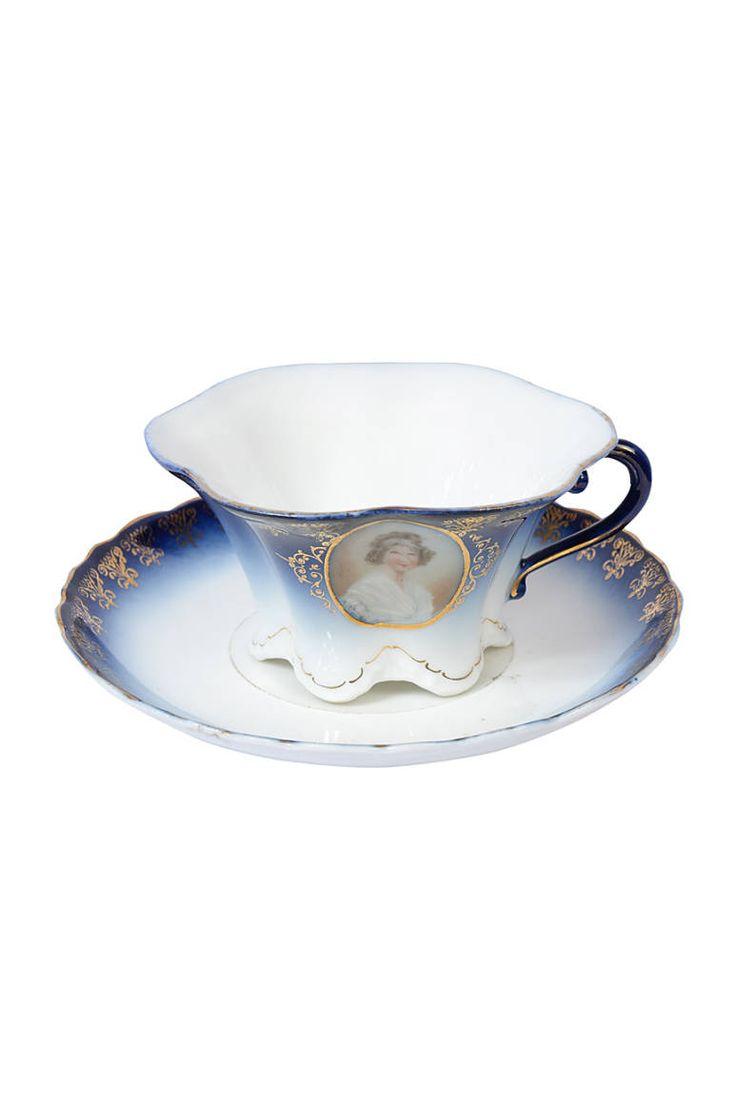 50'ler Oryantal Paris Porselen Vintage Fincan - 50's oriental paris porcelain vintage cup