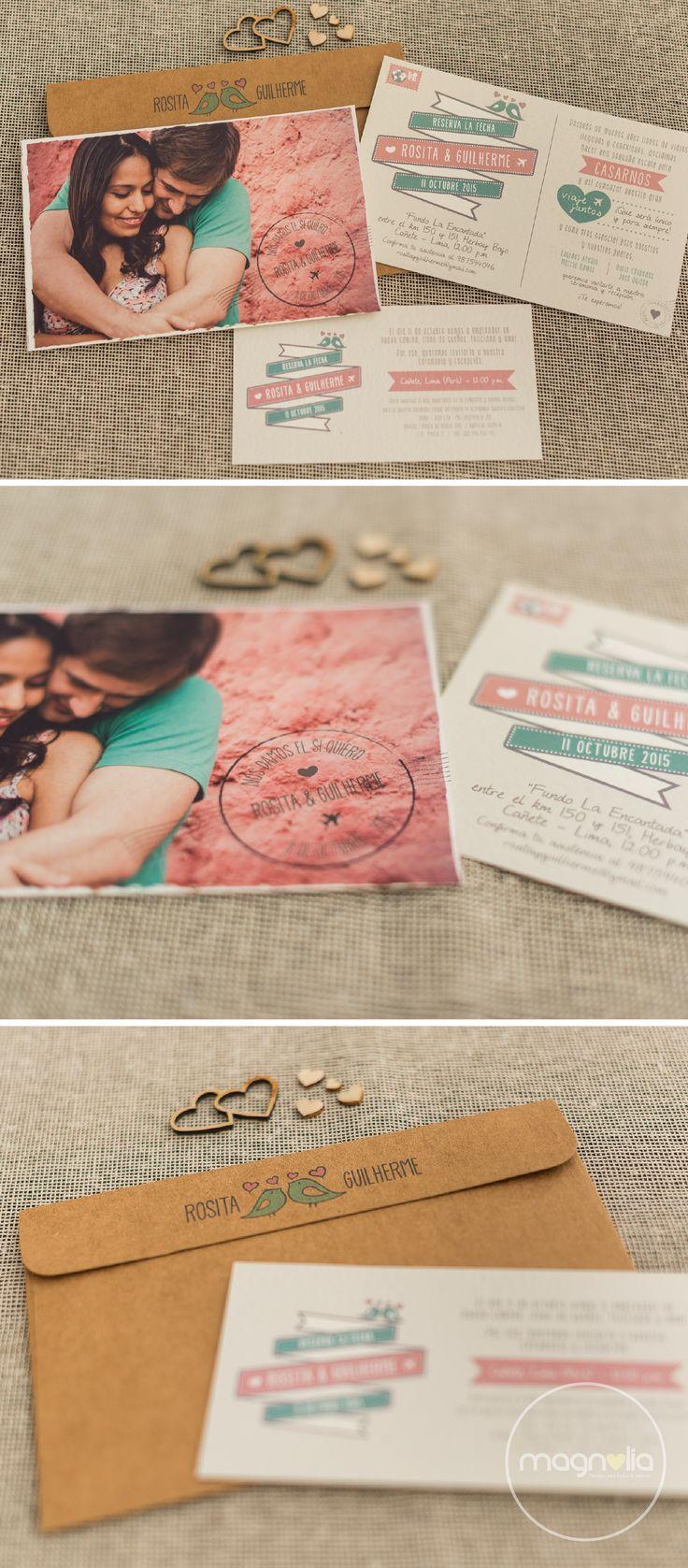 Invitaciones creativas para bodas   #invitaciones #bodas #creativas #fotos #originales