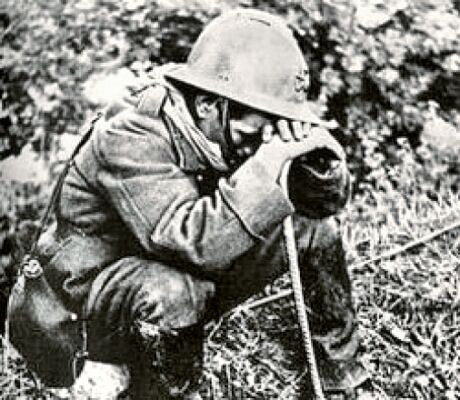 "PTSD was known as ""shell shock"" in WWI    http://www.ptsdsurvivalmanual.net/p-face-ptsd.html"