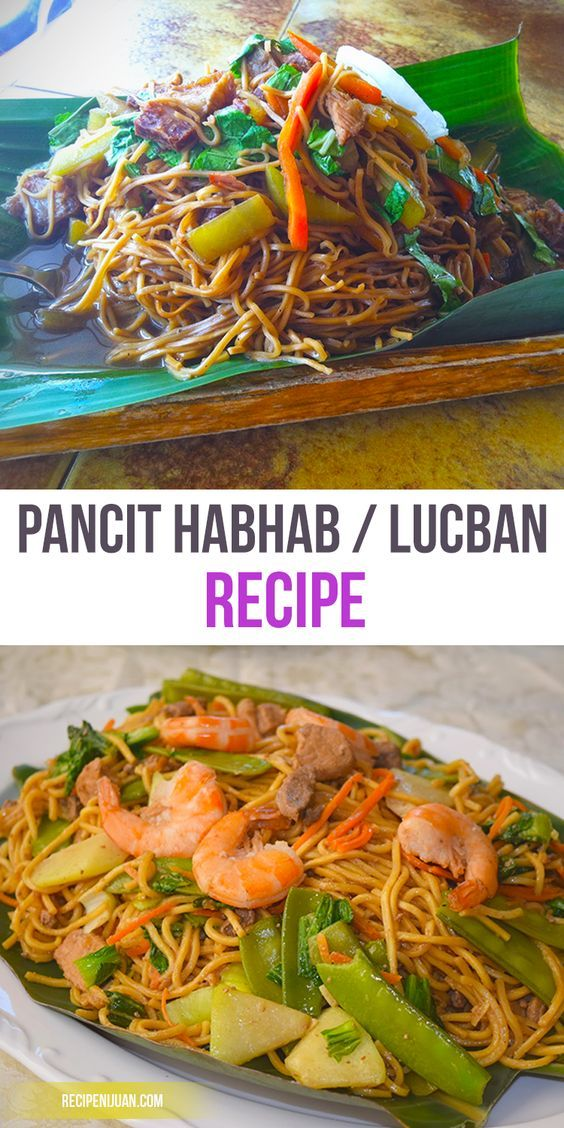 The Famous Pancit Habhab Recipe also known as Pancit Lucban