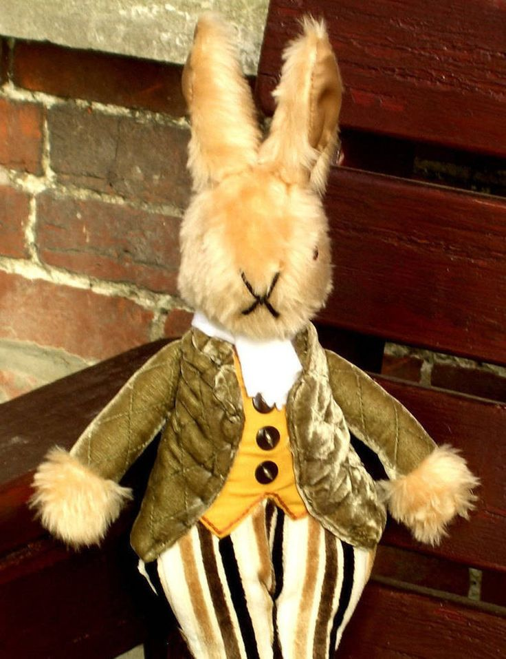 Uncle Brendan Bunny Dressed Rabbit Toy Plush Toy Ornament Collectible Traditional Toy Fun Toy Decorative Toy Item Unbreakable Ornamental Toy