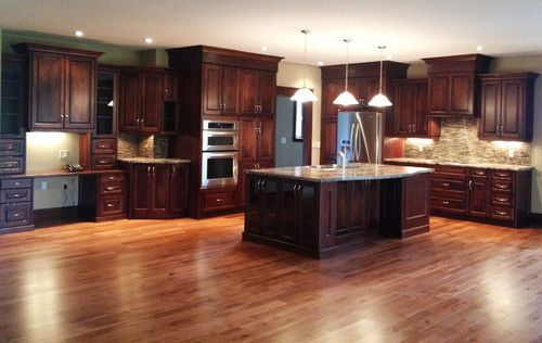 Large open concept cherry kitchen traditional kitchen for P kitchen dc united