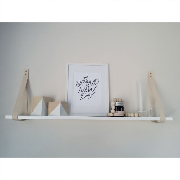 Image of White & Natural Leather Shelf