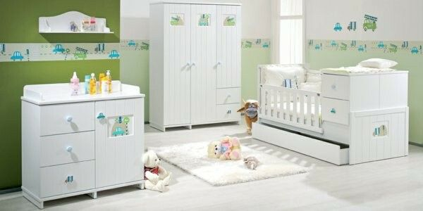 Kinderzimmer grün mit Bordüre
