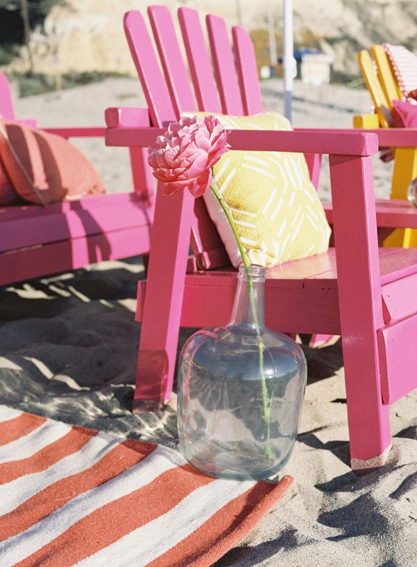 Malibu Beach Wedding Ideas from Beth Helmstetter                                                    ( chairs maybe in a different color)