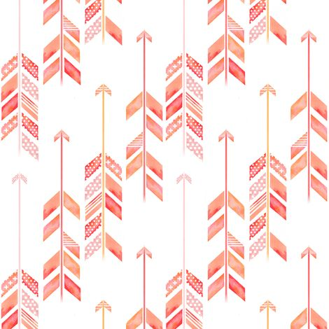 arrow herringbone fabric/wallpaper by emilysanford on Spoonflower - custom fabric