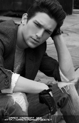 Daren Kagasoff. I'm not sure I would have gone with the leather knuckle gloves, but he is badass sexy anyways!