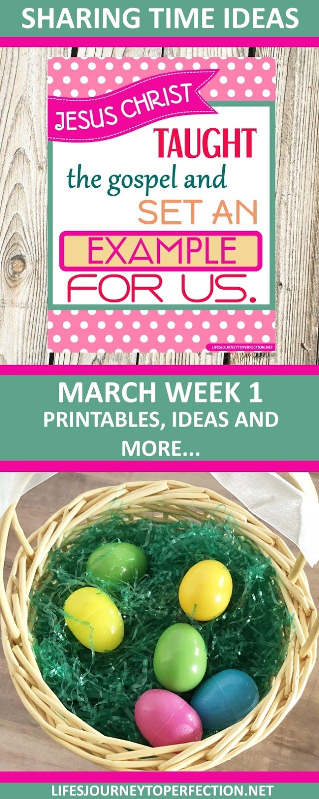 2018 Primary Sharing Time Ideas for March Week 1: Jesus Christ taught the gospel and set an example for us.