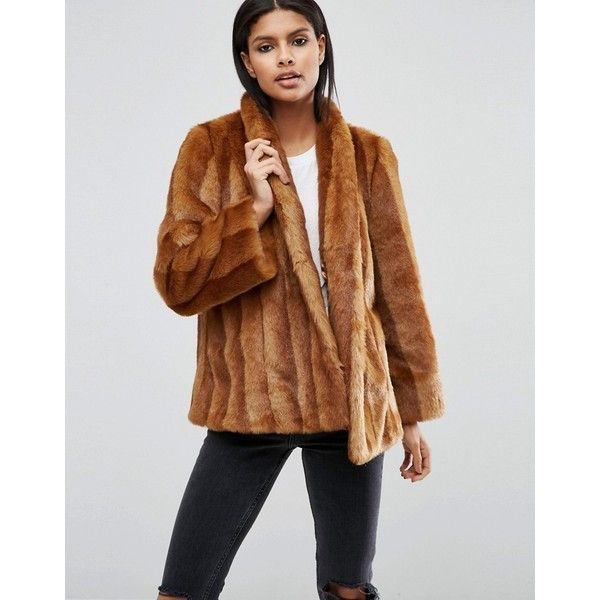 17 Best ideas about Brown Faux Fur Coat on Pinterest | Crop top ...