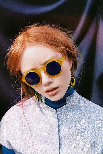 eyewear - Gafas de sol redondas - Round sunglasses - Street style - Sunnies…