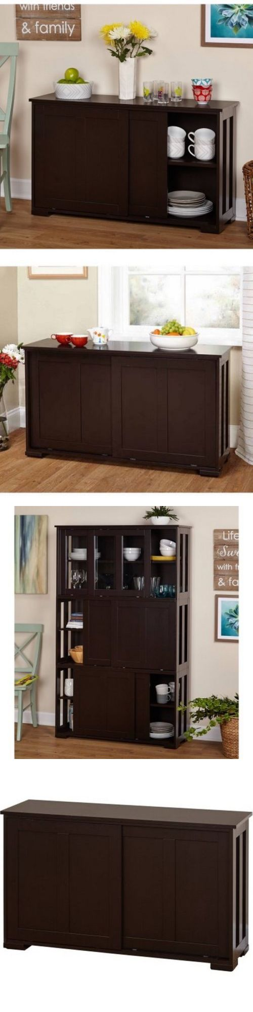 Sideboards and Buffets 183322: Sideboard Buffet Server Cabinet Table Furniture Espresso Stackable Storage Doors -> BUY IT NOW ONLY: $130.45 on eBay!