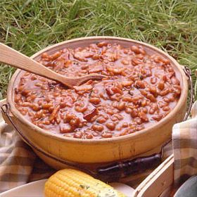 Stove-Top Spicy Baked Beans Recipe from Land O'Lakes.....I have used ...