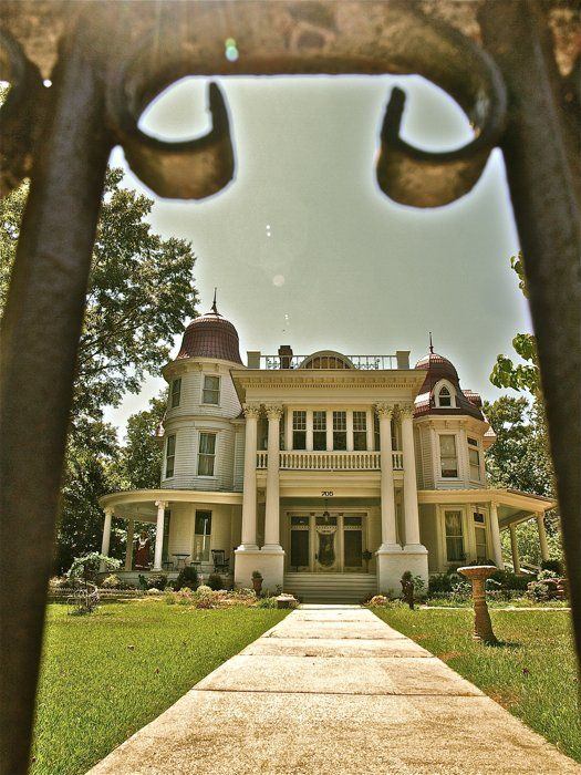 "The Allen House Circa 1906 ~ Monticello Arkansas. This gorgeous gothic style home is one of Arkansas' most haunted locations. The sad history of lost love and tragic death even inspired a book called ""A Haunted Love Story"". Tours are available by appointment. www.allenhousetours.com"