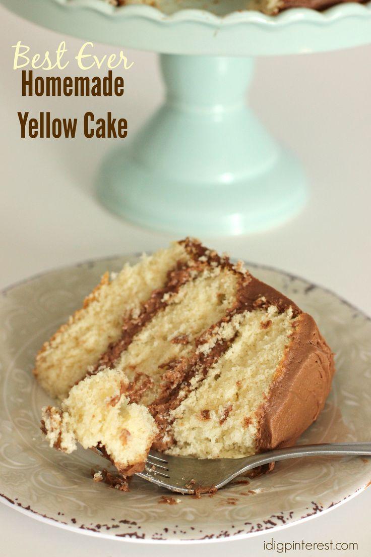 Best Ever Homemade Yellow Cake on MyRecipeMagic.com