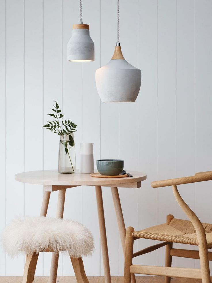 14 Rooms Flawlessly Incorporating Spring's Concrete Trend Concrete-pendant-light-768x1024