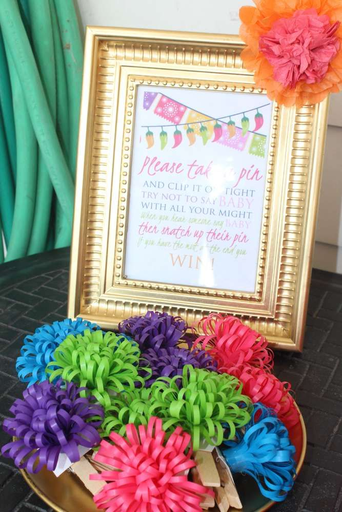 Fiesta/ Mexican themed Baby Shower Party Ideas