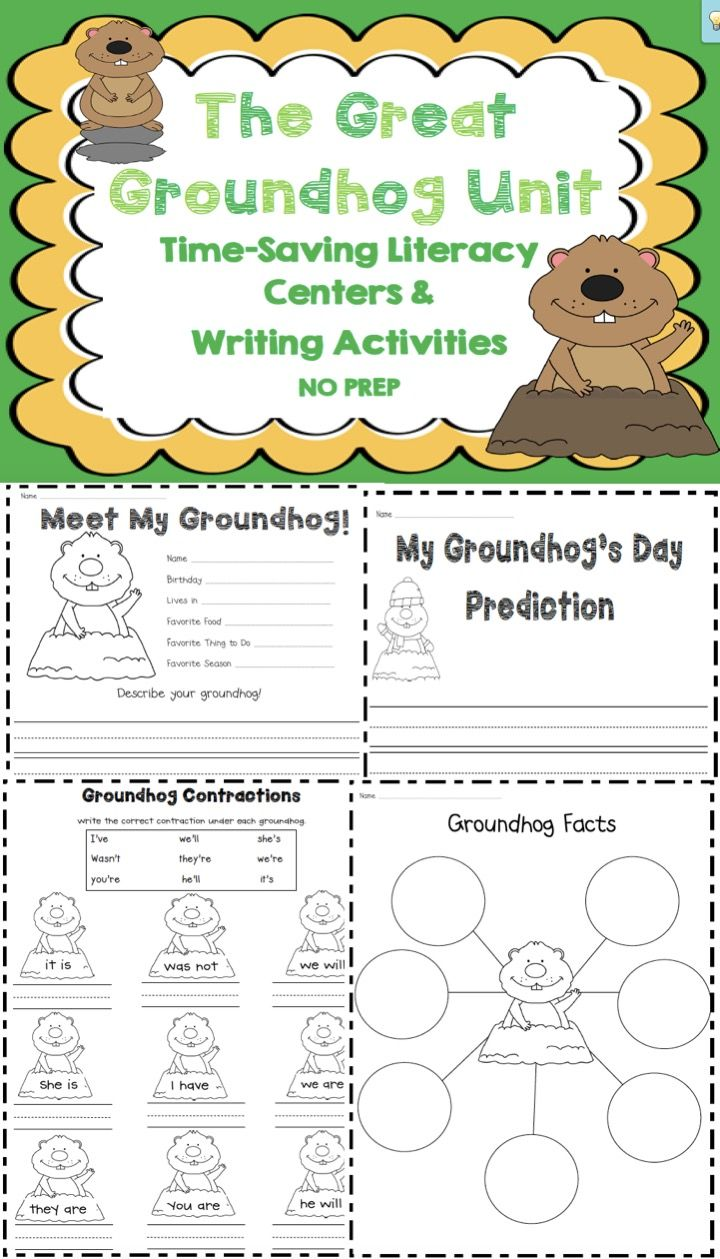 Groundhog day writing activities for kids