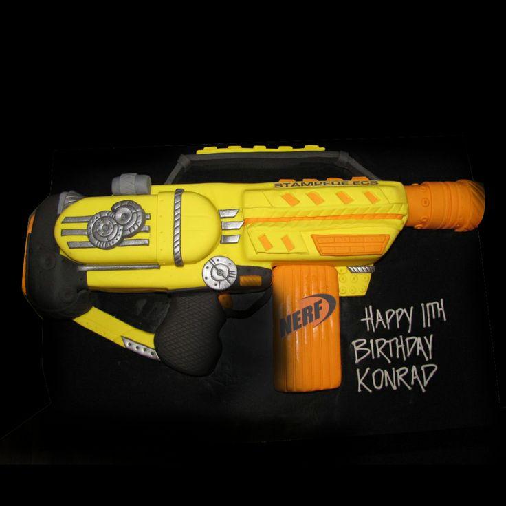 Nerf Gun Cake Httpwwwjollykiwipartiescom201211nerf