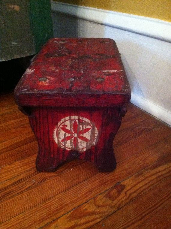 Beautiful PA Rare Find Make Do Wood Painted Red Antique Primitive Bench Stool Orig. Square & 1112 best VINTAGE AND ANTIQUE WOODEN BENCHES AND STOOLS images on ... islam-shia.org
