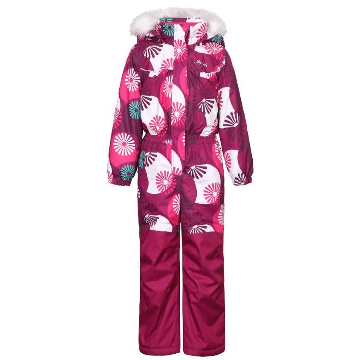 ICEPEAK Girls Schneeoverall JANINA #Kinderwinterjacke #Kinderskijacke #Kinderskioverall #Kinderskianzug  #pink #Fellkapuze #Icepeak #warm #kuschelig #Kinder #Mädchen