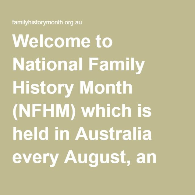 Welcome to National Family History Month (NFHM) which is held in Australia every…