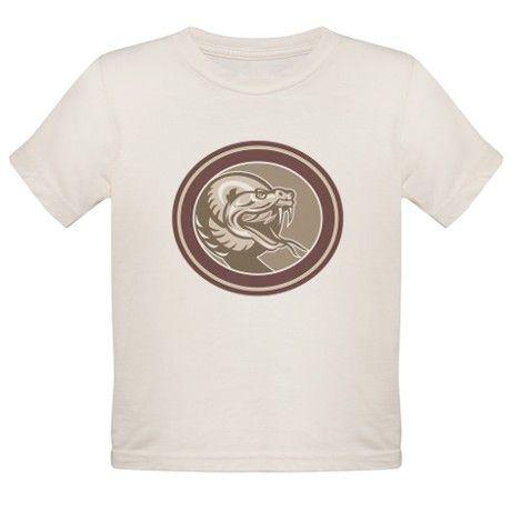 Rattle Snake Head Retro T-Shirt