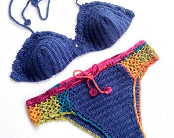 Bandera americana de cultivo superior bikini por senoAccessory