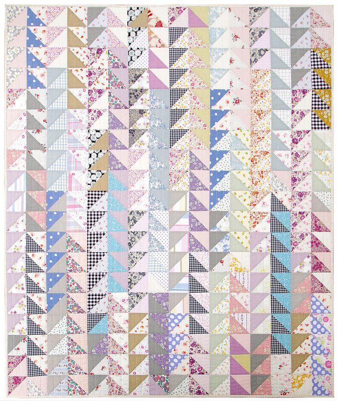 Simply HST - Oakshott Scandinavia Half Square Triangle Quilt | Red Pepper Quilts 2015