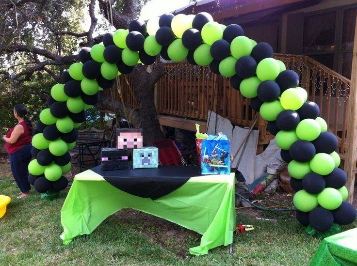 Minecraft Creeper Desing Custom Balloons Arcos De
