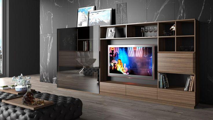Antalya Tv Ünitesi.. Cam malzemesinin cüretkar kullanımı ve sürgülü tasarımındaki afro american stil ile 70 lerin soul havasını günümüze taşıyor. #macitler #modoko #masko #adana #design #designer #tasarım #tv ünitesi #tv modülü #televizyon #mobilya #marka #mobilya markası