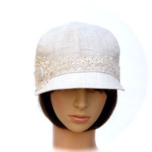LOW-RIDER ~ vintage hand-woven natural linen - Rosehip Hat Studio