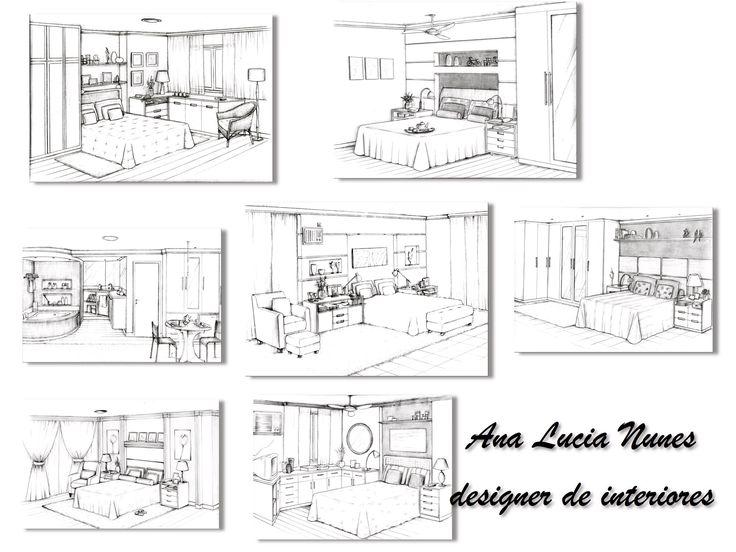 Quartos Casal - Projeto designer Ana Lucia Nunes