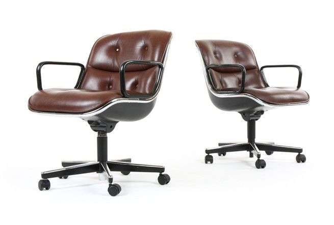 Charles Pollock Executive Chairs for Knoll in Leather - Mr. Bigglesworthy Designer Vintage Furniture Gallery