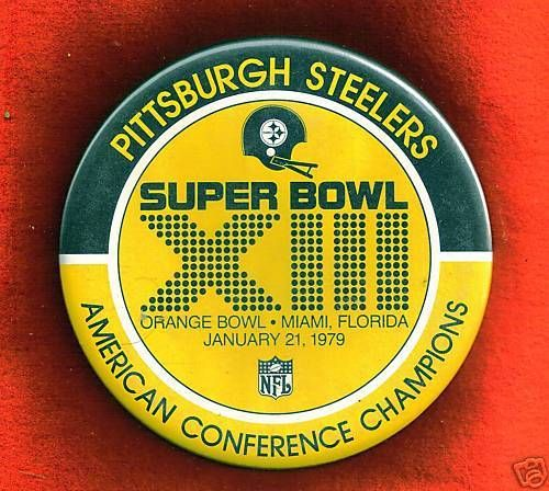 VINTAGE 1979 PITTSBURGH STEELERS SUPER BOWL XIII 6 inches #PittsburghSteelers