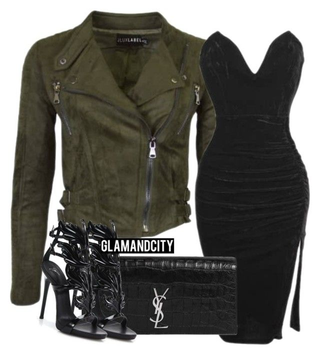 Untitled #359 by glamandcity on Polyvore featuring polyvore, fashion, style, Giuseppe Zanotti, Yves Saint Laurent and clothing