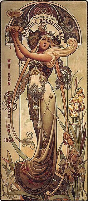 Alphonse Mucha - Champagner-Werbung