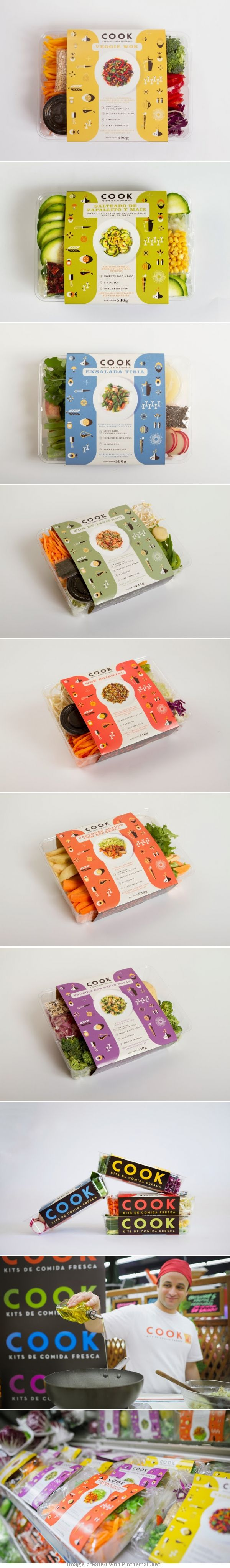 COOK Agency: Mundial Designer: Francisco Cunha y Martín Azambuja Client: Cook Country: Uruguay  #Packaging
