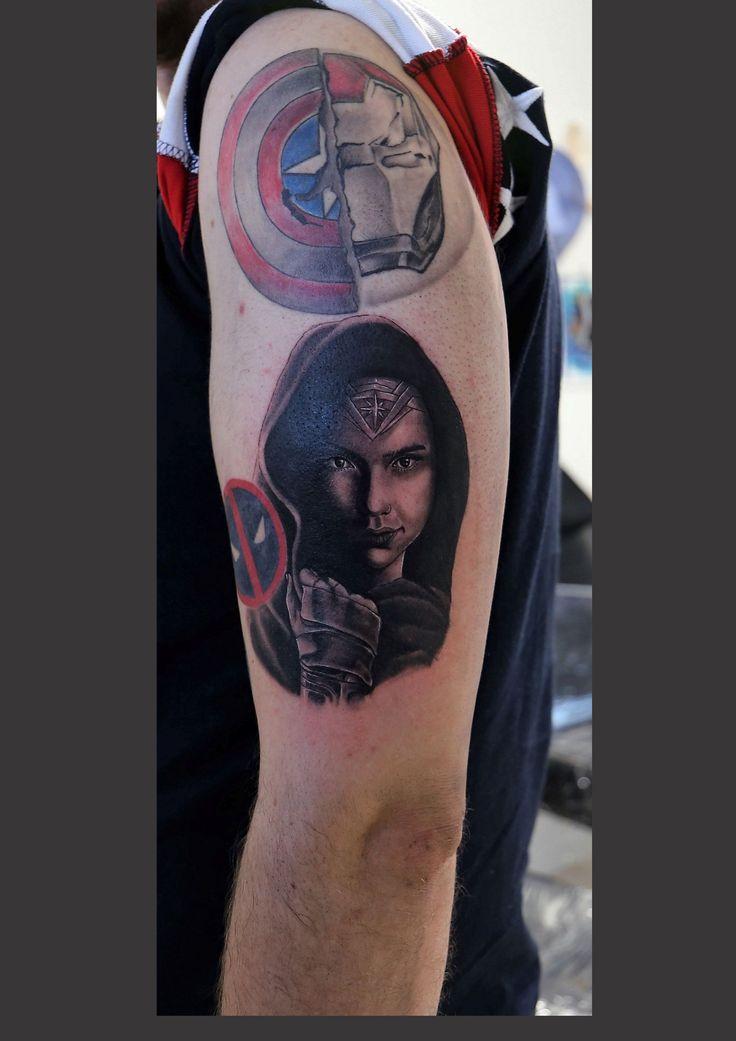 Realistic tattoo #portrait tattoo #wonderwoman tattoo#tattoo idea#sleve tattoo #montebelluna tattoo #venteo tattoo#fuerteventura tattoo #Bari tattoo