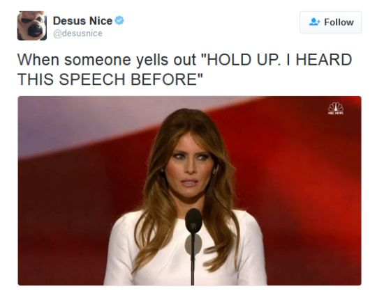Hilarious Melania Trump Memes Donald Trump's usually seen and not heard wife Melania shattered the internet after being BUSTED for plagiarizing Michelle Obama's 2008 DNC speech in a hil…