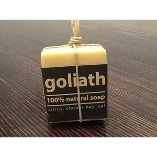 """Looking for something for the man in your life? Try this """"Goliath"""" of a soap - chunky and handmade from natural ingredients. It's the perfect stocking filler!"""