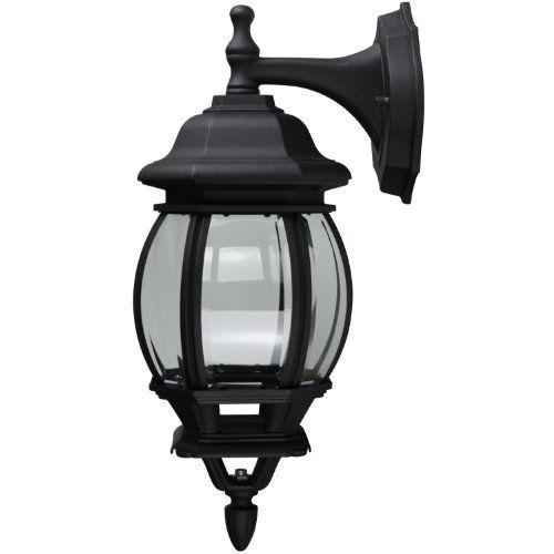 Sunlite Odi1070 16 Inch Decorative Carriage Style Wall Mount Down Outdoor Fixture Black Finish