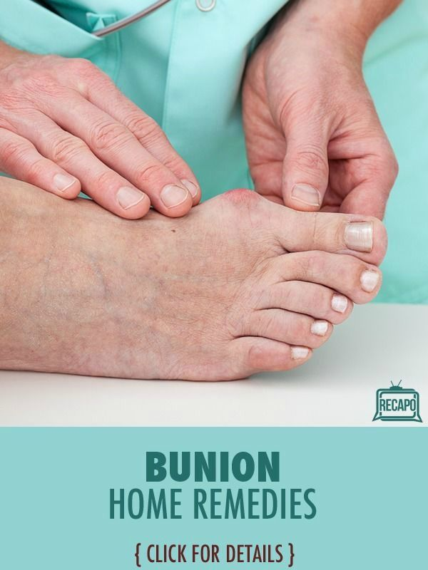 Need to try some alternative methods for treating bunions. Avoid a pointed toe box, which can exaggerate bunion deformity. Increased height in the toe box is a good thing, making platform shoes a viable option. http://www.recapo.com/dr-oz/dr-oz-beauty/dr-oz-marilyn-milian-bunion-surgery-recovery-bunion-home-remedies/