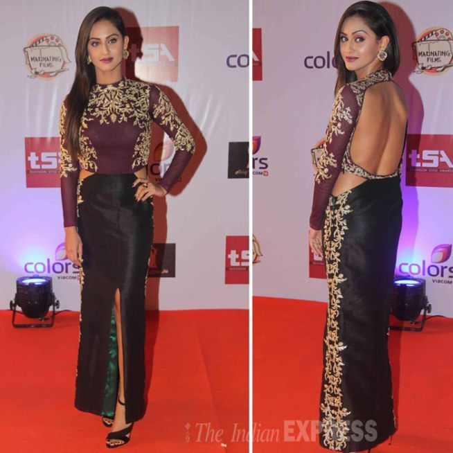 Krystle D'Souza showing her #sexy back at the Television Style Awards.