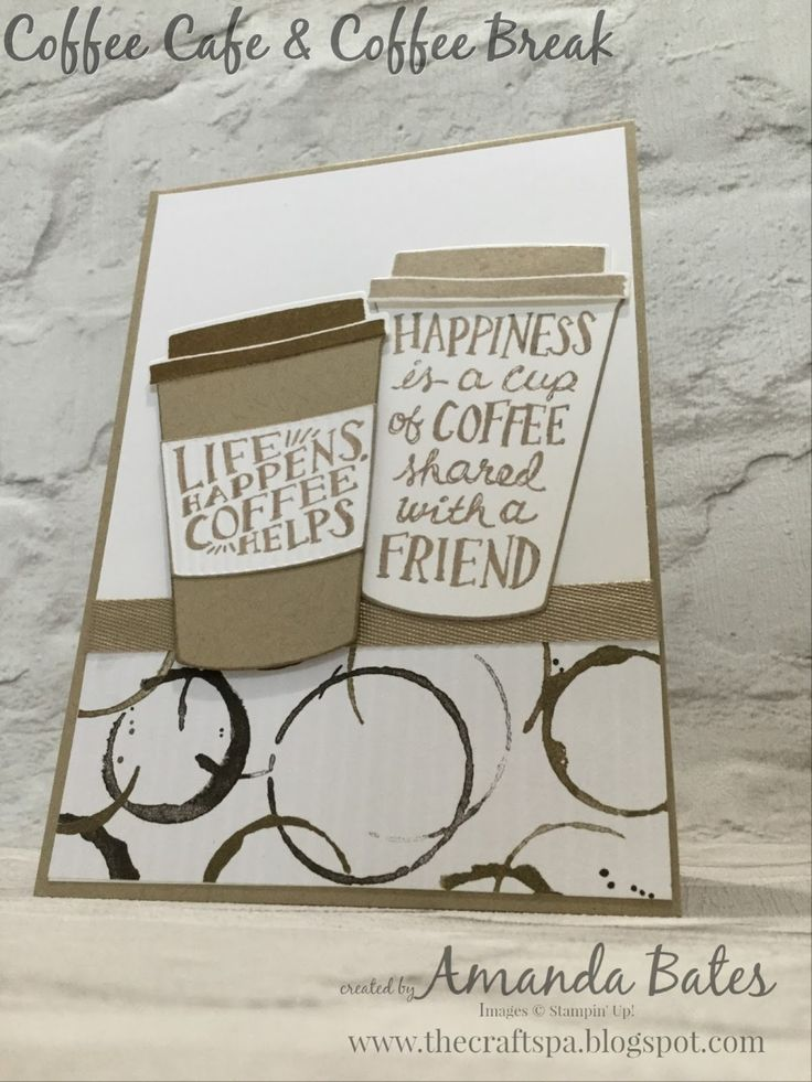 Coffee Cafe & Cups CAS card by Amanda Bates at The Craft Spa. Independent Stampin' Up! UK Demonstrator, Blogger & Online Shop